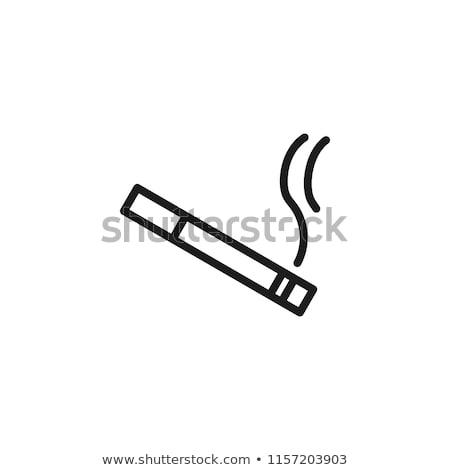 dohányos · ikon · vektor · szimbólum · rák · orvosi - stock fotó © blaskorizov