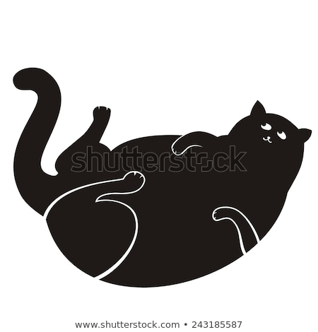 Animaux grasse chat illustration nature Photo stock © colematt