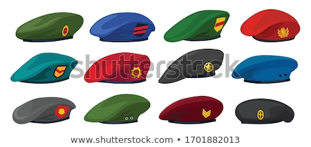 Set of cartoon military equipment isolated on white Stock photo © mechanik