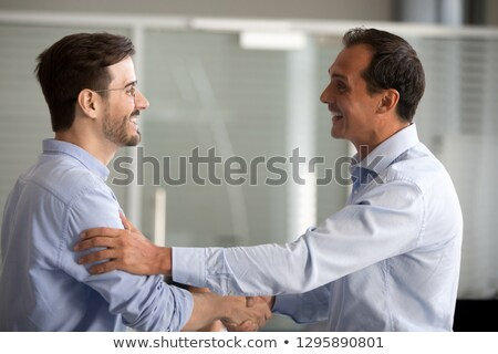 Boss Praising Office Worker, Director on Interview Stock photo © robuart