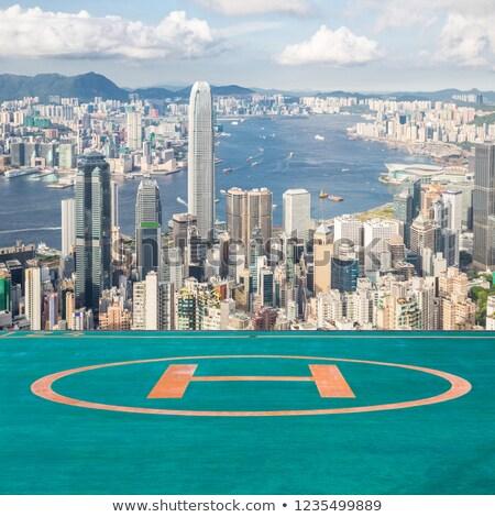 linha · do · horizonte · Hong · Kong · noite · negócio · escritório · edifício - foto stock © vichie81