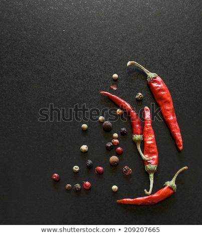 piros · chilli · bors · babérlevél · rozsdás · háttér - stock fotó © furmanphoto