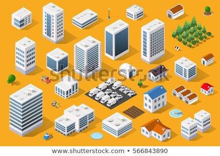 saját · ház · tulajdon · szolgáltatás · ingatlan · ikon · gyűjtemény - stock fotó © rastudio