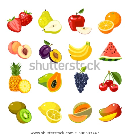 Watermelon and Pineapple Bananas Fruits Set Vector Stock photo © robuart