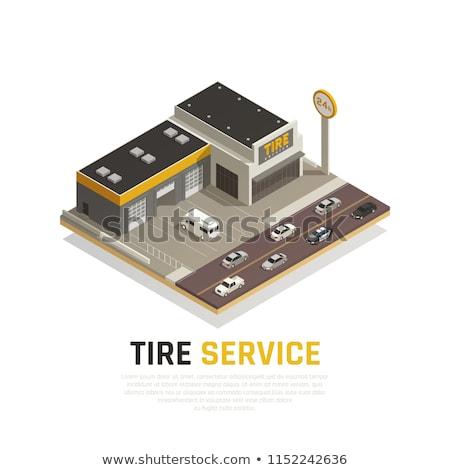 Pneu production Ouvrir la mécanicien voiture Photo stock © robuart