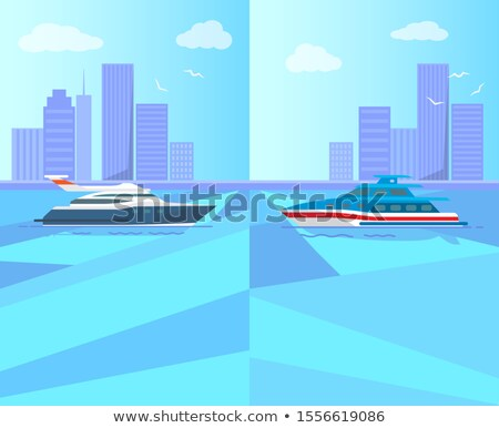 modern yacht for sea walk and boat trip promotion stock photo © robuart