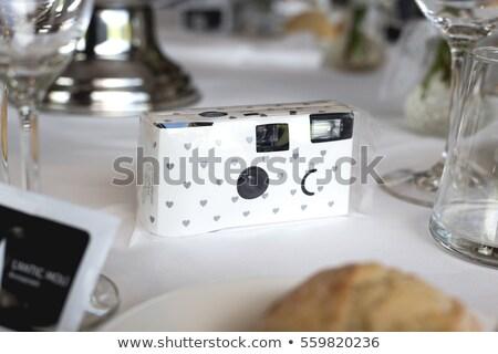 Usa e getta fotocamera isolato bianco film finestra Foto d'archivio © homydesign