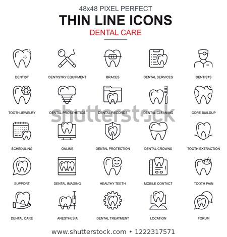 online · stomatologia · stomatologicznych · usług · infografiki · ikona - zdjęcia stock © makyzz