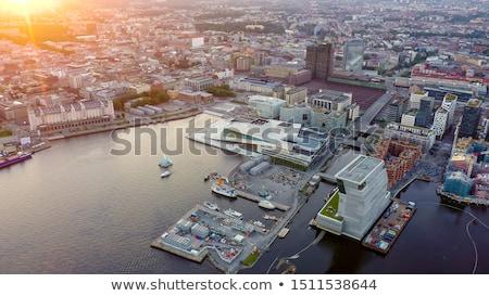 Oslo pôr do sol turista navio de cruzeiro natureza paisagem Foto stock © bdspn