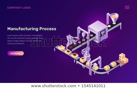 製造 プロセス 工場 行 スタイル ストックフォト © jossdiim