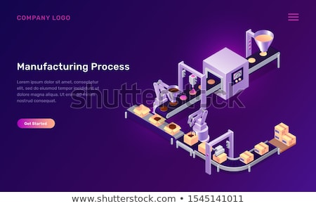 Conveyor manufacturing process Stock photo © jossdiim