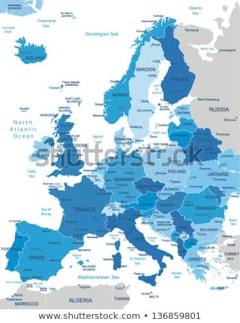 ヨーロッパ · イギリス · フランス · スペイン · ポルトガル · イタリア - ストックフォト © conceptcafe