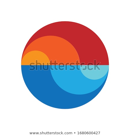 Illustration of a round gradation blue earth stock photo © Blue_daemon