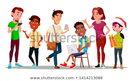 international character adolescent set vector stock photo © pikepicture