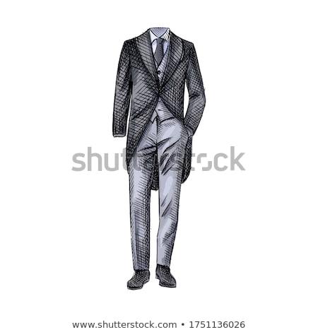 黒 細部 男 結婚式 スーツ タキシード ストックフォト © pikepicture