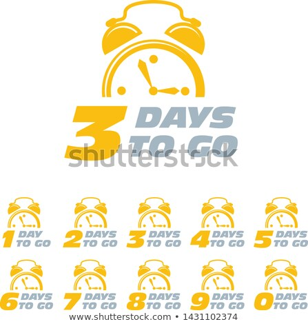 Three days to go sticker with alarm clock, limited period offer  Stock photo © Winner