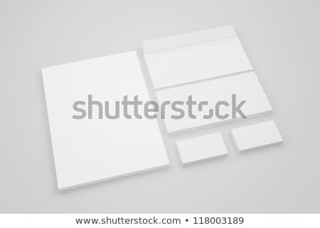 Szett irodaszer tárgy illusztráció papír könyv Stock fotó © bluering