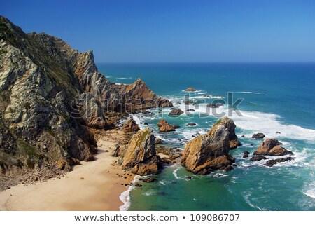 ビーチ 先頭 表示 リスボン ポルトガル 水 ストックフォト © frimufilms