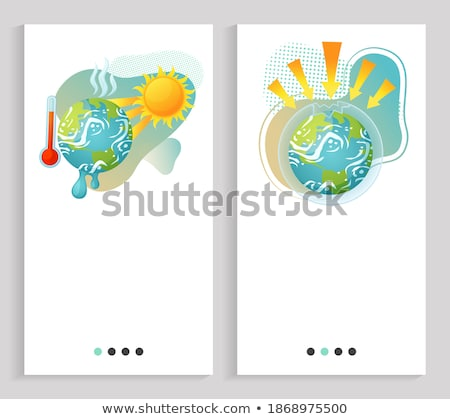 Ozone Depletion Earth App Slider Stock photo © robuart