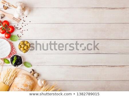 makaronu · ser · jaj · czosnku · toast - zdjęcia stock © denismart