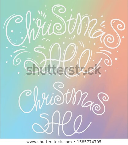 Black Happy New Years Ornaments 2020 Golde Price Stickers Sale Stock photo © limbi007