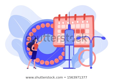 Female contraceptives concept vector illustration Stock photo © RAStudio