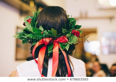 Laurel corona posgrado ilustración cuadro hojas Foto stock © adrenalina