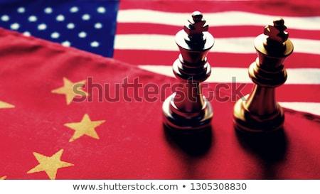 Сток-фото: Китай · США · валюта · войны · китайский · символ