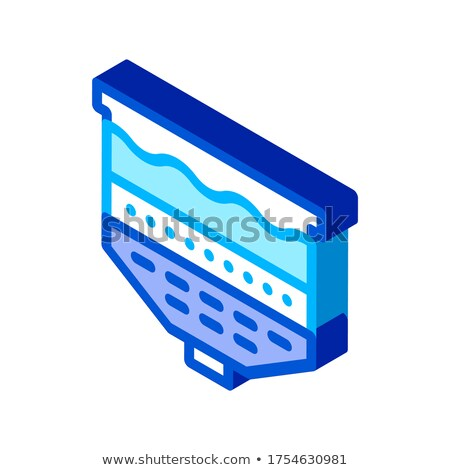 Víz kezelés vektor ikon felirat vékony Stock fotó © pikepicture