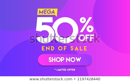 Super Sale, 50 Percent Off, Best Offer Banner Stock photo © robuart