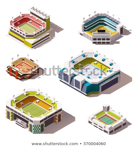 изометрический американский футбола стадион иллюстрация Сток-фото © artisticco