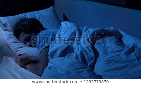 Portrait young teen boy on bed Stock photo © Lopolo