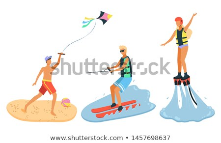 water · sport · zwarte · fitness · mannen - stockfoto © robuart