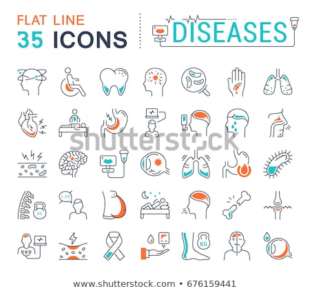 headache collection elements vector icons set stock photo © pikepicture