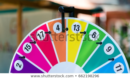 Winner and Fortune Wheel, Girl and Game of Luck Stock photo © robuart