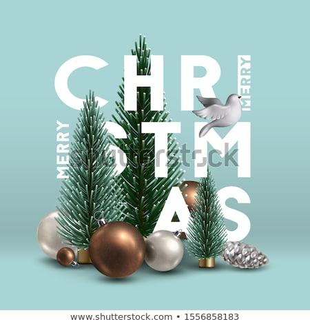 クリスマス カード 高級 銀 鳩 ストックフォト © cienpies