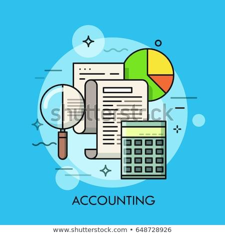 Gastos cálculo vector metáfora planificación compras Foto stock © RAStudio