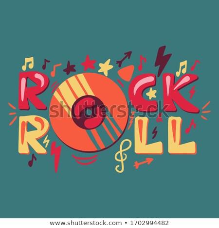 рок катиться приглашения баннер Сток-фото © masay256