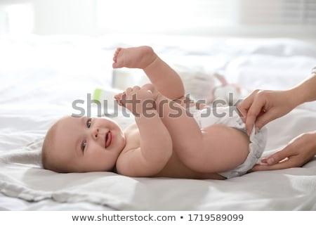 Verandering luier illustratie zorg geboorte katoen Stockfoto © adrenalina