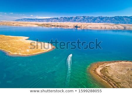 Acelerar barco deserto ilha arquipélago Croácia Foto stock © xbrchx