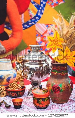 Tradycyjny rosyjski inny drewna domu Zdjęcia stock © nomadsoul1