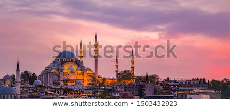 Blue Mosque at sunset in Istanbul, Turkey Stock photo © boggy