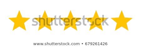 Vijf sterren 3d illustration geïsoleerd witte metaal Stockfoto © montego