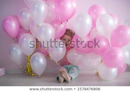 Ballonnen roze witte jongen jaren leeftijd Stockfoto © ElenaBatkova
