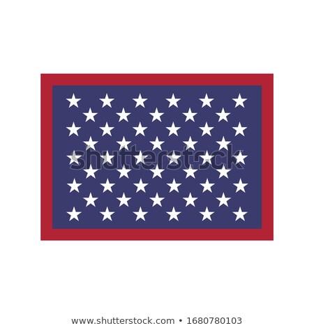 Fünfzig Sternen amerikanische Flagge hat isoliert weiß Stock foto © kyryloff
