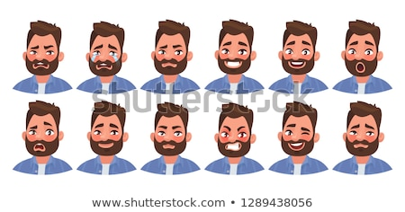 Avatars with emotions. Set of male emoji characters. Isolated boys avatars with different facial exp Stock photo © ukasz_hampel