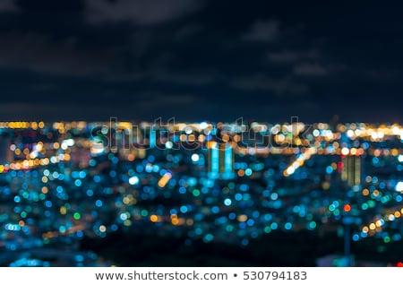 Gece görmek modern şehir Cityscape gece hayatı Stok fotoğraf © Anneleven