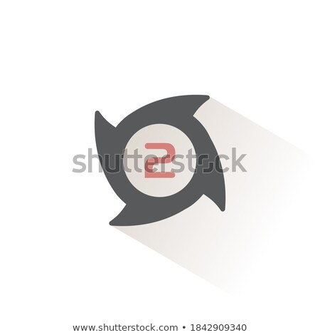 Hurricane. Category two. Second rate. Icon. Weather and map glyph vector illustration Stock photo © Imaagio