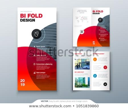 Brochure 3d illustration geïsoleerd witte business papier Stockfoto © montego