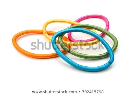 Haren elastisch witte band diamanten geïsoleerd Stockfoto © FOKA